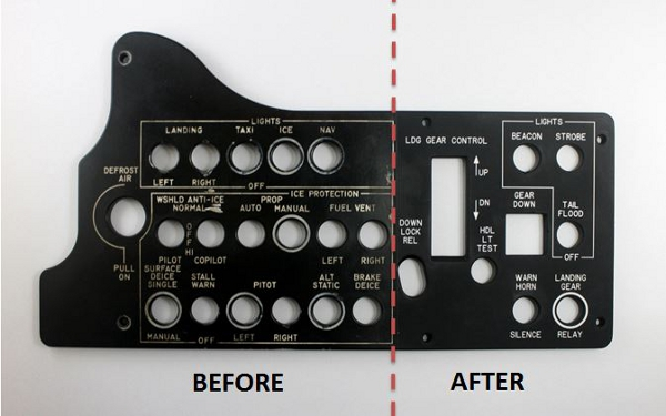 Control Panel Refurbishment - Before and After